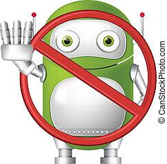 zielony, robot