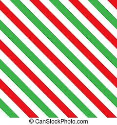 zielony, seamless, cukierek, próbka, pasy, trzcina, czerwony