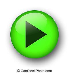 zielony, sieć, guzik