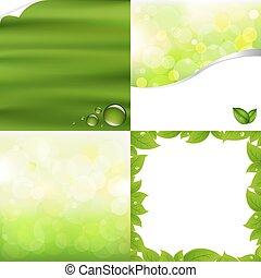 zielony, tła