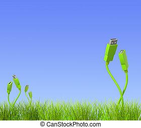 zielony, technologia
