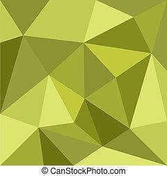 zielony, wektor, trójkąt, tło