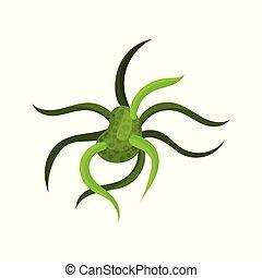 zielony, wirus, albo, bacteria., molekularny, biology.,...