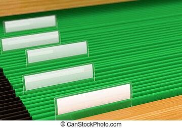 zielony, wkładać falcowników