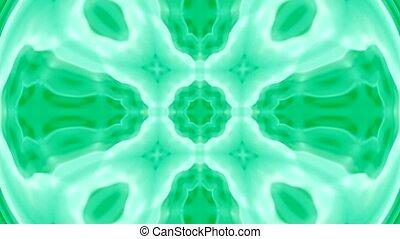 zielony, zniekształcić, kwiat modelują