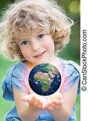 ziemia, children`s, siła robocza