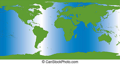 ziemia, ilustracja, mapa