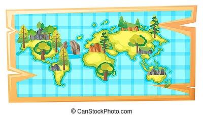 ziemia, kasownik zasoby, worldmap