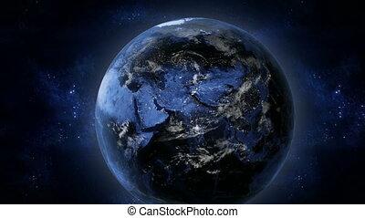 ziemia, noc