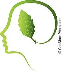 ziemia, oprócz, zielony, myśleć