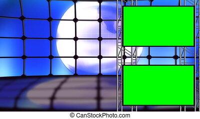 ziemia, pętla, komplet, zielony, ekran, studio