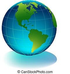 ziemia, połyskujący