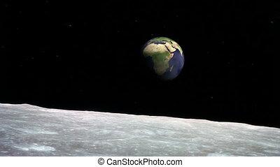 ziemia, powierzchnia, księżyc