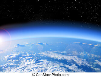 ziemia, prospekt, przestrzeń