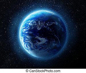 ziemia, w, przestrzeń