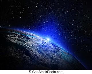 ziemia, z, przestrzeń