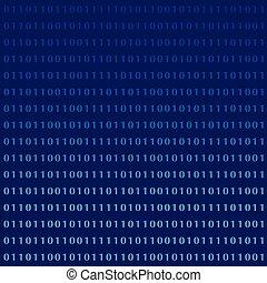 ziffern, binärer, computermonitor, sprache