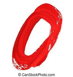ziffern, rotes , handgeschrieben