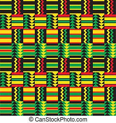 zig, africano, padrão, zag