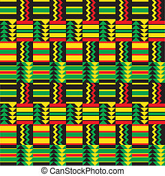 zig, africano, patrón, zag