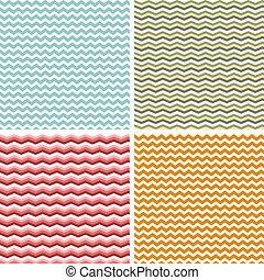 Zig Zag - A set of seamless retro Zig zag patterns