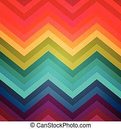 zig-zag, arco íris, backgroun, padrão, abstratos, listras, deformado, étnico