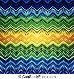 zig-zag, azul, abstratos, listras, amarela, pa, verde, étnico, deformado
