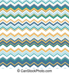 Zig zag Background with colorful blue, cyan, green, yellow and white stripes