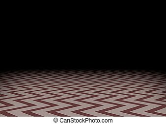 zig-zag, darkness., illustration., pavimento, mistico, stanza, scuro, fondo., vettore, orizzontale, astratto, rosso