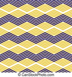 Zig zag geometric pattern, vector retro style background.