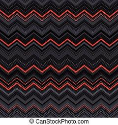 zig-zag, padrão, abstratos, cinzento, listras, deformado, seamless, fundo, preto étnico, vermelho