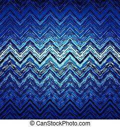 zig-zag, pat, azul, abstratos, listras, deformado, pretas, étnico, branca