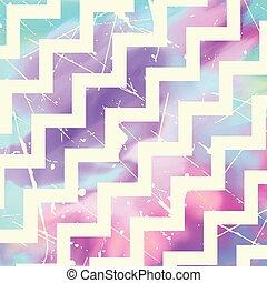zig zag pattern on watercolour 0406 - Grunge zig zag pattern...