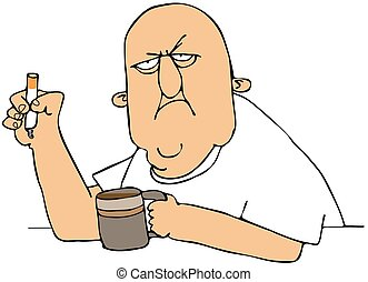 zigarette, bohnenkaffee