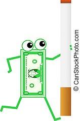 zigarette, dollar