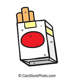 zigarette, gekritzel