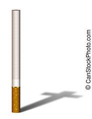 zigarette, schatten