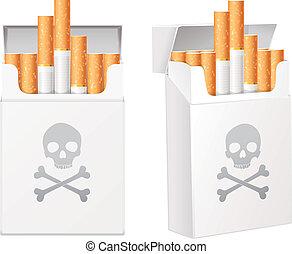 zigaretten, weißes, satz