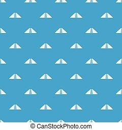 Ziggurat in Chichen Itza pattern seamless blue