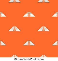 Ziggurat in Chichen Itza pattern seamless