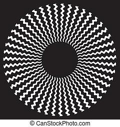 ziguezague, desenho espiral, padrão