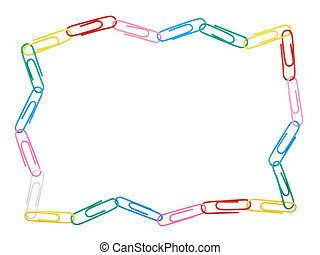 Zigzag frame made of paper clips