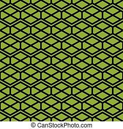 Zigzag green endless pattern
