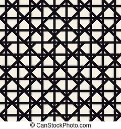 Zigzag lines geometric seamless pattern.