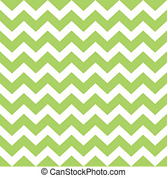 Zigzag pattern in wild green isolated on white - Seamless...