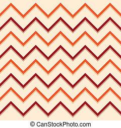 Zigzag pattern orange red