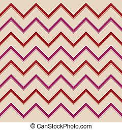 Zigzag pattern red aubergine