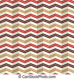 Zigzag pattern with a rippled effect