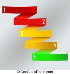 zigzag, persona de color de arco iris, empresa / negocio,...