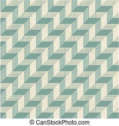 zigzag, pirámide, seamless, patrón, 3d